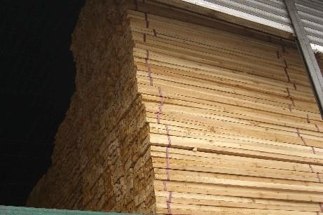 加拿大花旗松库存原木板材锯材