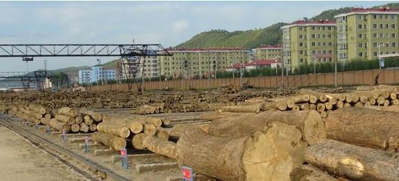 柴河林业局贮木场木材